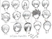 anime hair boy template character