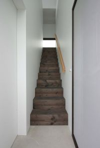 Simple wooden enclosed staircase | Staircase | Pinterest ...