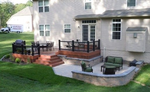 deck and patio combination  for ours the deck would just