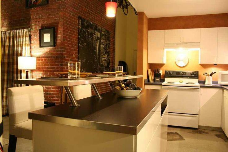 Ikea Capita angled bracket I love this great way to add a breakfast bar  First Floor Kitchen