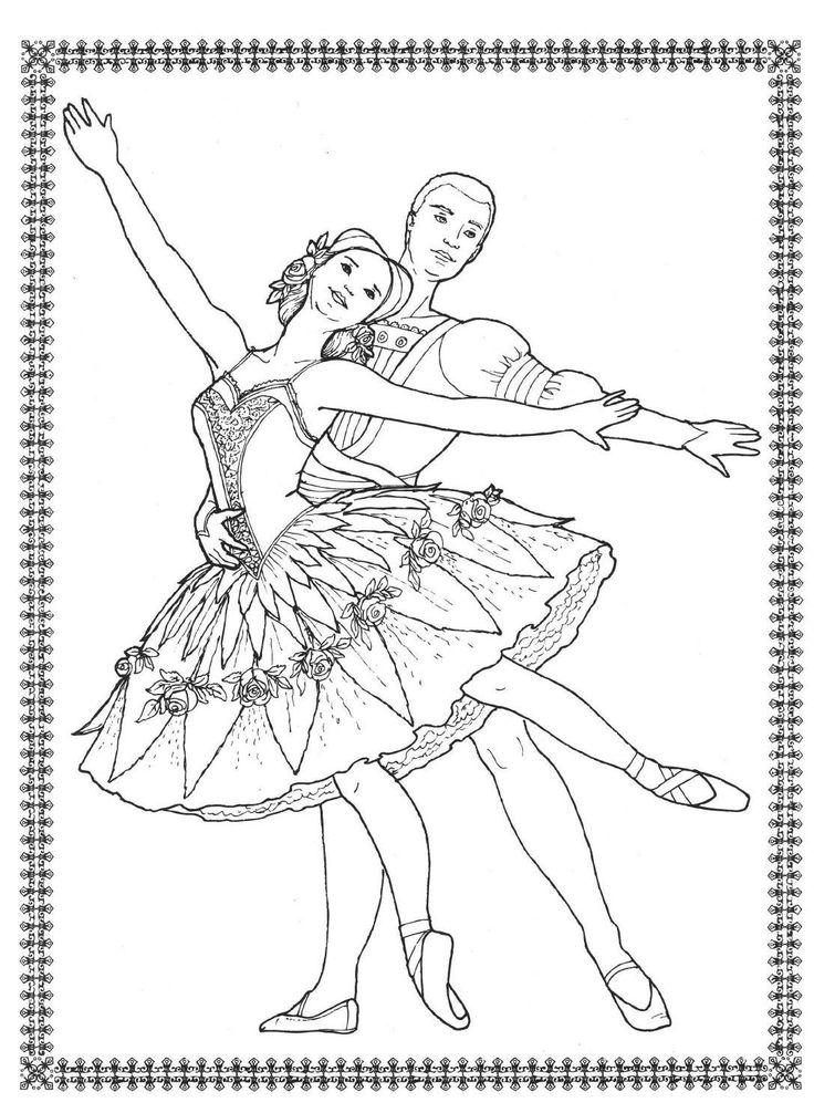 63 best Ballet/Dance Colour pages images on Pinterest