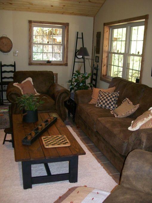 Primitivecountry And Folk Art Living Room Designs