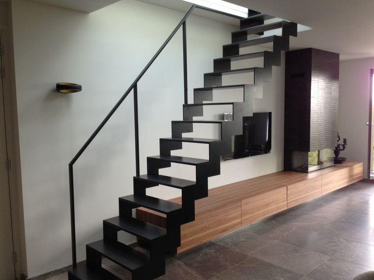 kitchen window ideas crosley cart open stalen trap | trappen modern pinterest