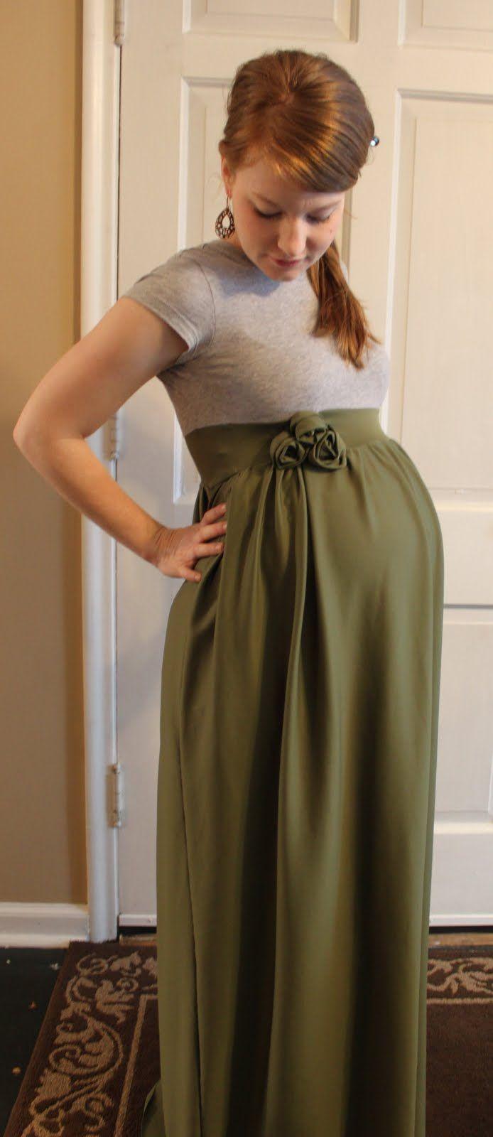 diy maternity maxi dress | Poemsrom.co