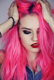 ideas hot pink hair