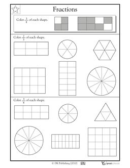 10 Best ideas about Fractions Of Shapes on Pinterest
