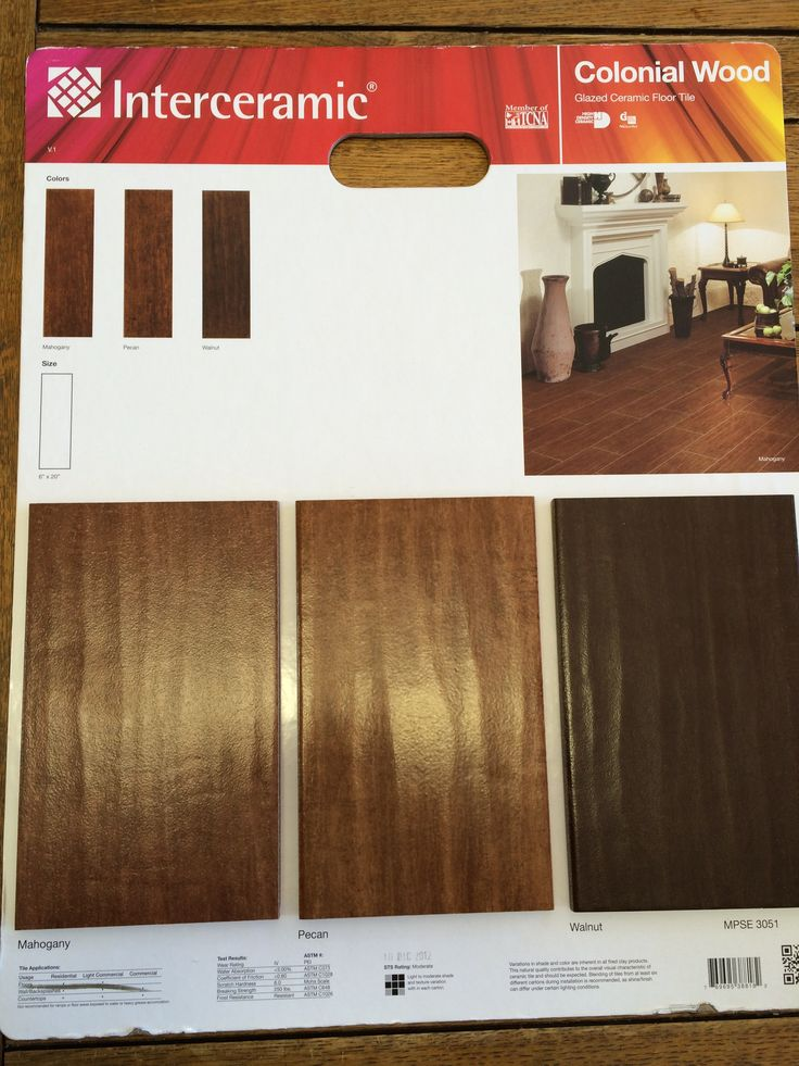 Walnut is our color. Interceramic Colonial Wood Tile
