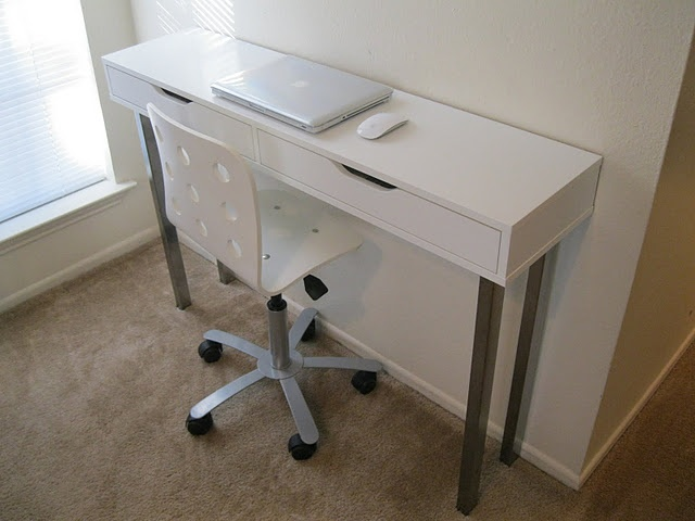 Narrow desk could be great for small spaces  For the