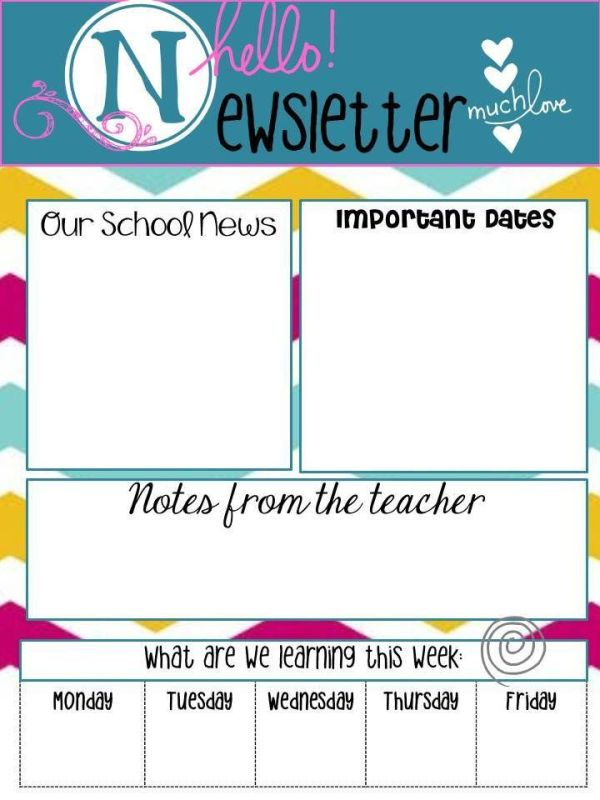 Only best 25 ideas about School Newsletters on Pinterest