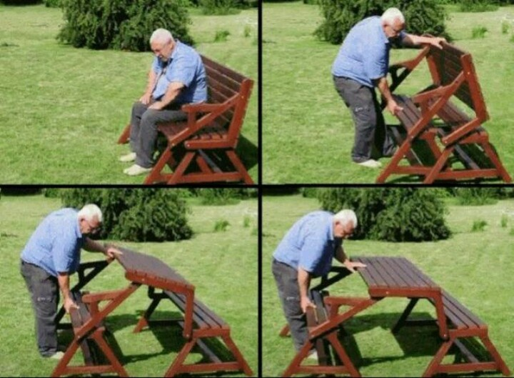 Bench that turns into a picnic table   Home O Homey