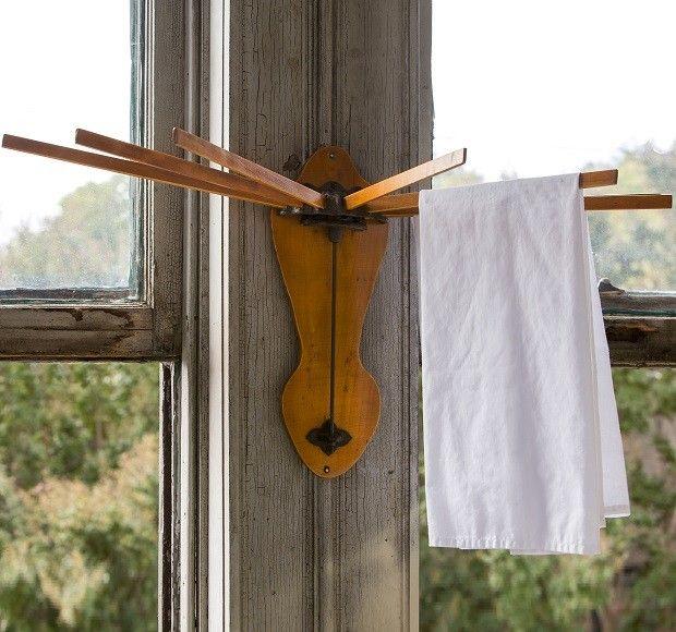 Wall Drying Rack  Kitchen Towel Rack  Wood Hanging Towel