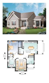 Bungalow Country Craftsman House Plan 65524