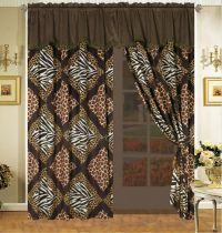 safari curtains | ... Safari Patchwork Micro Fur Comforter ...