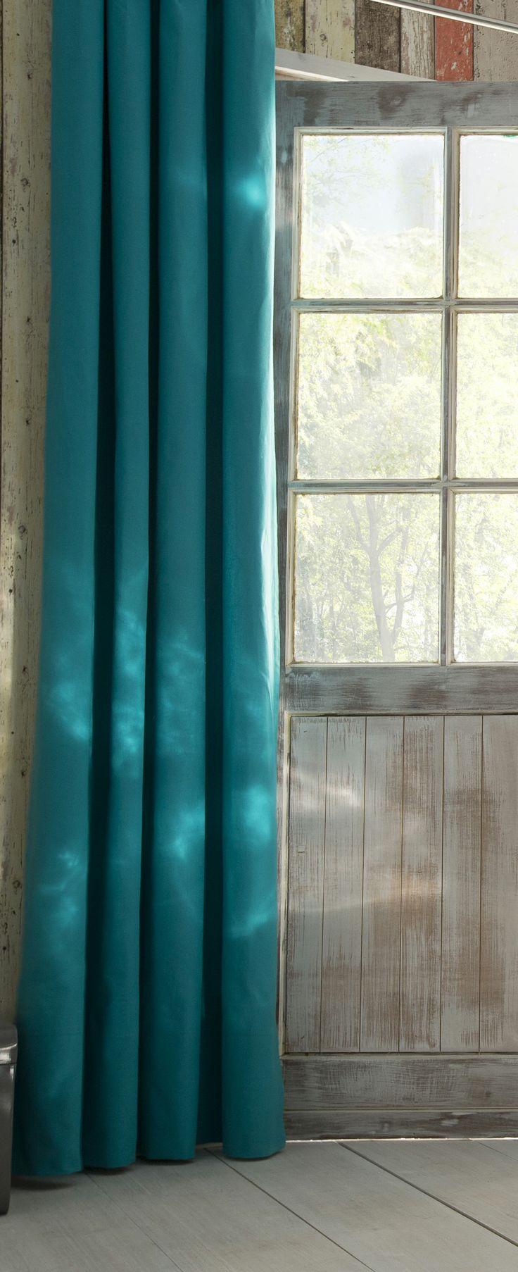 rideaux occultants bleu canard maisonsalon cuisine salle. Black Bedroom Furniture Sets. Home Design Ideas
