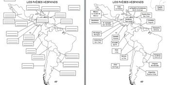 Spanish, Country maps and Spanish speaking countries on