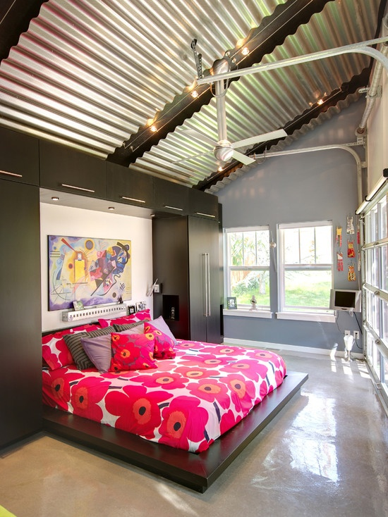 Bedroom Corrugated Steel Design Pictures Remodel Decor and Ideas  LIFESTYLE  Home Sweet