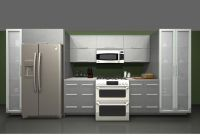 Use IKEA rubrik stainless steel cabinet over fridge and ...