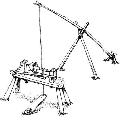 Viking pole lathe, for wood turning. Simple, but ingenious