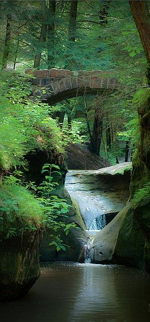 """""""Old Man's Cave,"""" located at Hocking Hills State Park in southern Ohio, got its"""