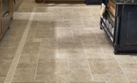 stone tile kitchen floor - Google Search | Floors ...