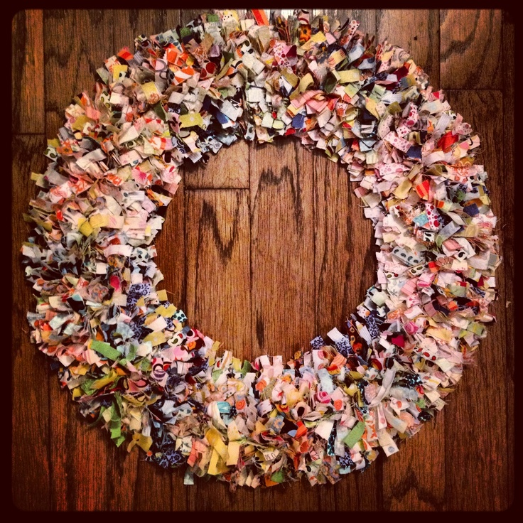 17 Best Images About Fabric Square Wreath On Pinterest