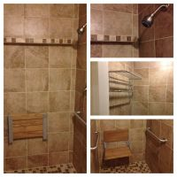 Zero threshold shower we did. I lowered the floor framing ...