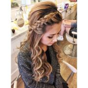 braid with loose curls sharireyes