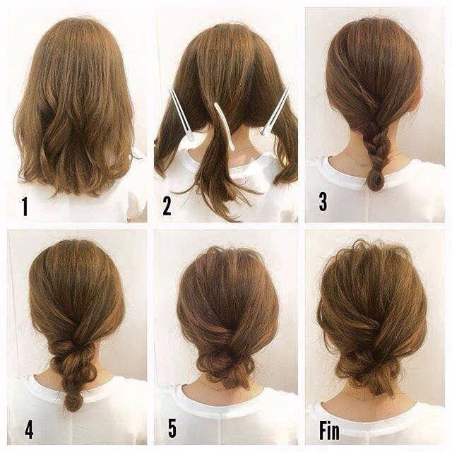 25 Best Ideas About Messy Bun Short Hair On Pinterest Updo