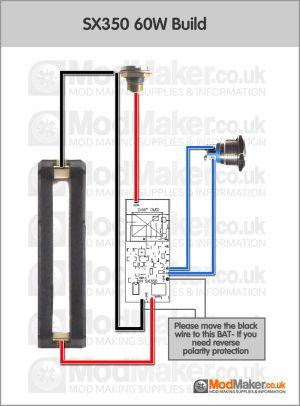 SX350 60W Wiring Diagram | BOX MOD schematy DIY | Pinterest
