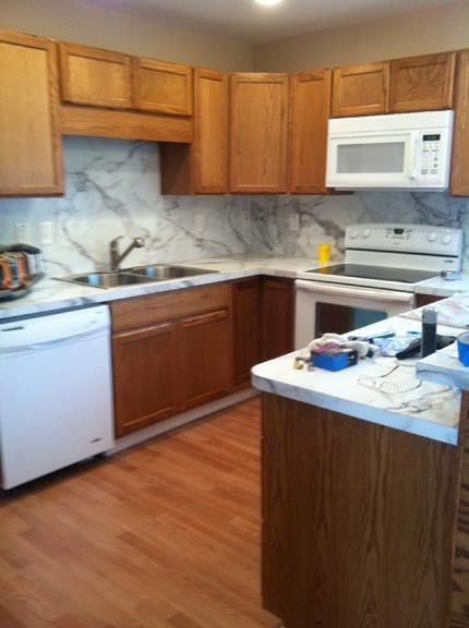 Susan Used Formica 180fx Calacatta Marble For Both Her New