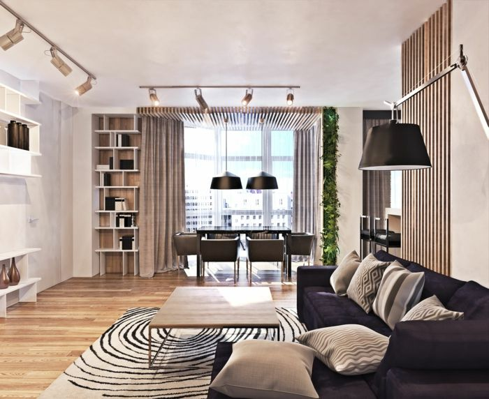 Wohnideen Wohnzimmer Dunkle Couch