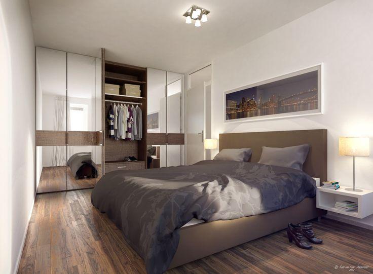 kleine slaapkamer inrichten voorbeelden  slaapkamer