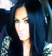 jet black blue tint hair & beauty