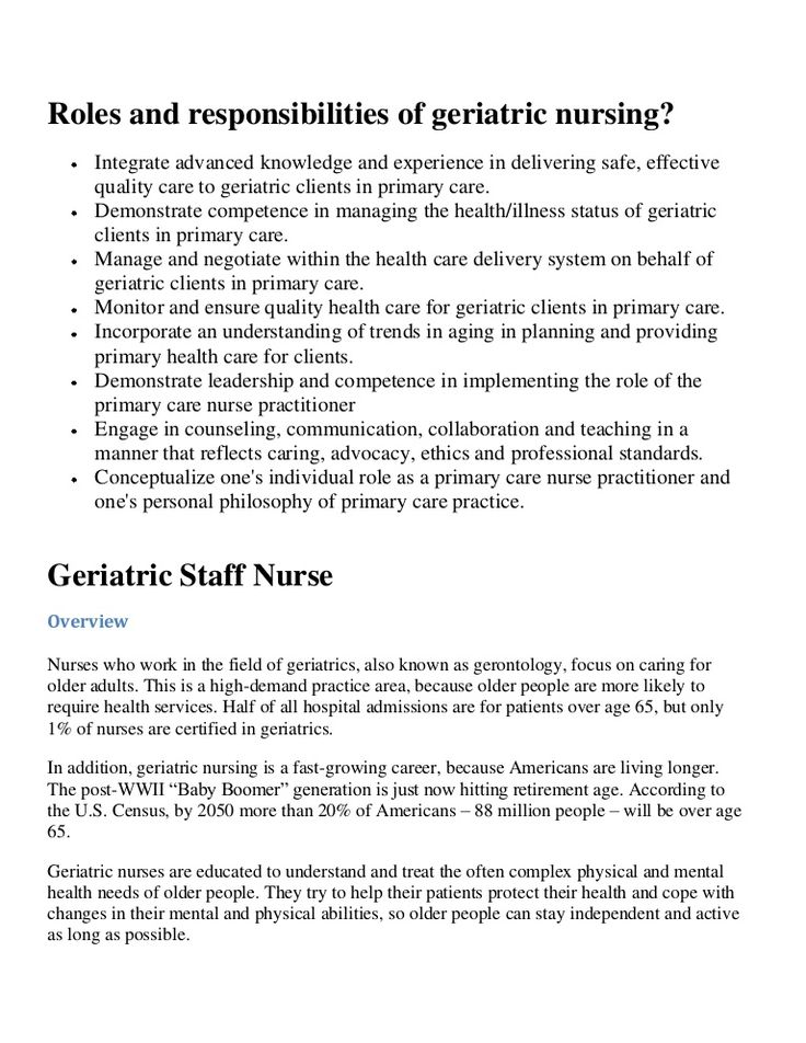 Roles and responsibilities of geriatric nursing  Supporting the elderlyGerontological