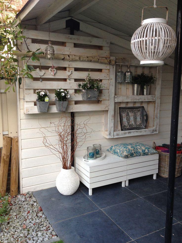 25 beste ideen over Pallets tuin op Pinterest