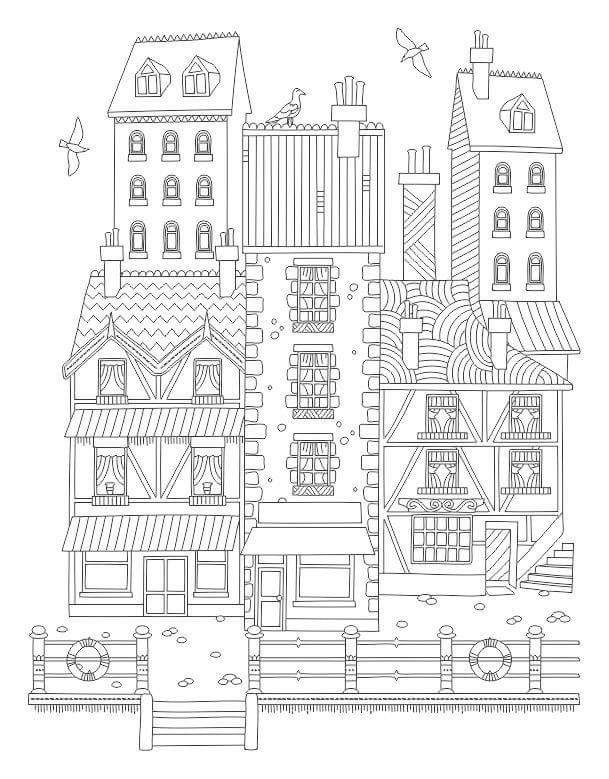 265 best images about Architecture Coloring Pages for