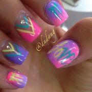 bright colorful nail art similar