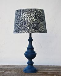 TABLE LAMP Navy Blue Nautical Napoleonic Cottage Chic