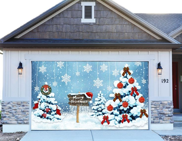 Garage Door  Christmas Garage Door Decor
