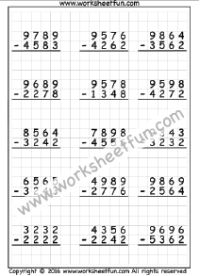 3 Digit Subtraction With Regrouping Worksheet Fun
