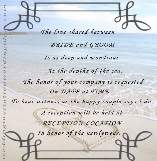 The Best Wedding Invitations For You Beach