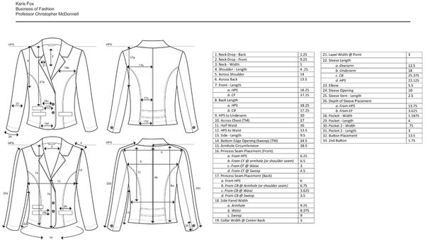 1000+ images about Garment Specification Sheets on