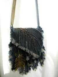 Denim Feather Shoulder bag | My Handmade bags,purses ...