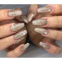 Glitter coffin nails | MargaritasNailz | Pinterest | Queen ...
