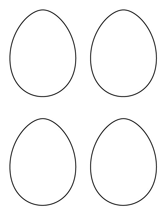 Printable medium egg pattern. Use the pattern for crafts