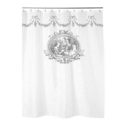 gray kitchen towels cheap cabinets for mathilde m - rideau de douche, bucolique | badkamer/toilet ...