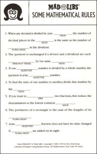 17 Best images about mad libs worksheets on Pinterest ...