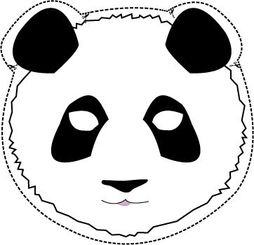 Panda Mask printable! if we need things for busy preK