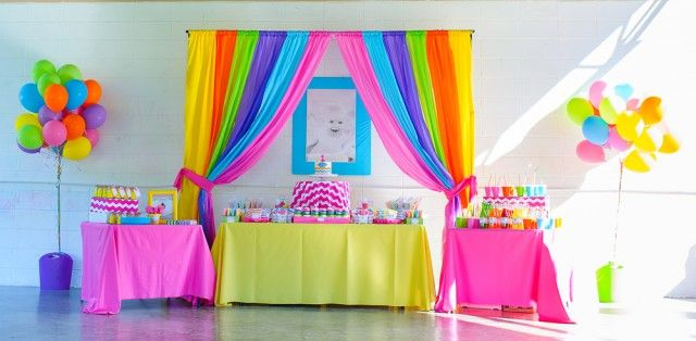 Love everything about this rainbow first birthday party