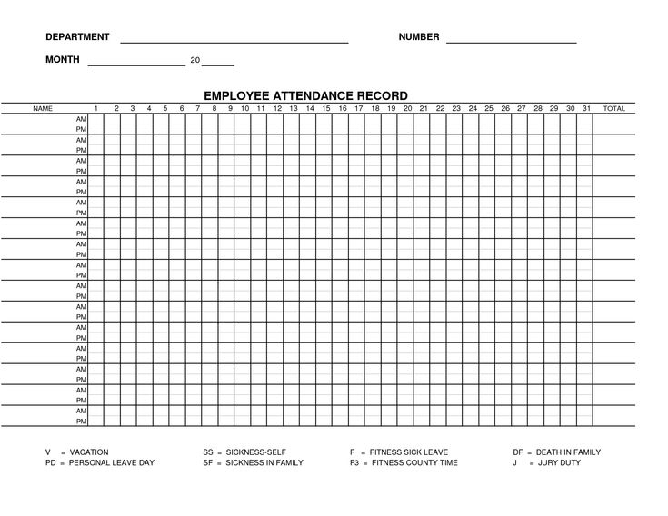 1000+ ideas about Attendance Sheets on Pinterest